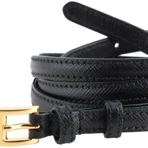 Prada Skinny Leather Waist Belt